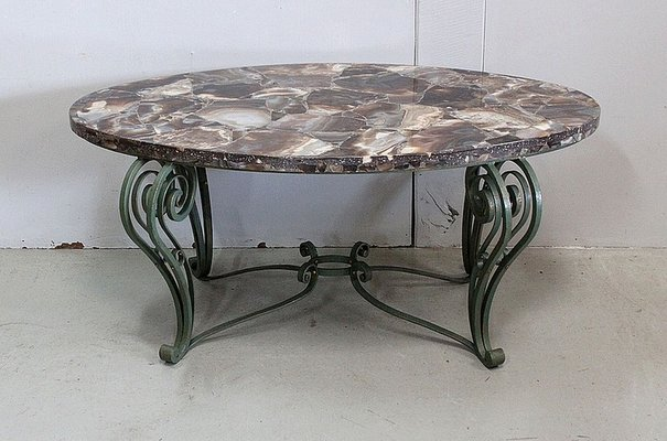 https www pamono eu marble and wrought iron coffee table 1950