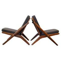 Teak Lounge Chair Old Kitchen Chairs Danish By Arne Hovmand Olsen For Jutex 1960s Set Of 2
