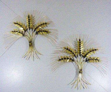 vintage decorative brass wheat