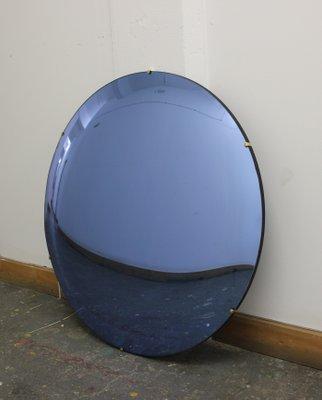 blauer orbis convex spiegel ohne rahmen von alguacil perkoff ltd