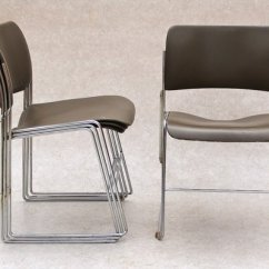 David Rowland Metal Chair Ergonomic With Footrest Stackable By For Sale At Pamono 3