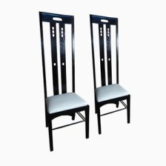 Charles Rennie Mackintosh Willow Chair Wheelchair Stair Lift Online Shop Design At Pamono Art Nouveau Black Lacquered High Back By