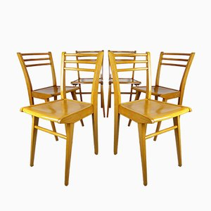 cafe chairs wooden desk chair ergonomic review vintage bistro from luterma for sale at pamono beech dining 1950s set of 6
