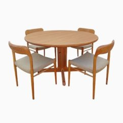 Kitchen Table Chairs Set Corner Dining Bench Danish Oak And By Niels Otto N O Moller 1960s