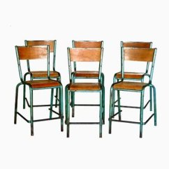 Industrial Metal Chairs Solid Oak Chair By Robert Mallet Stevens 1950s For Sale At Vintage French Design Set Of 6