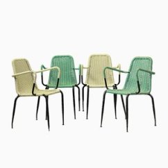 Woven Plastic Garden Chairs Chair Covers To Hire For Weddings Buy Mid Century At Pamono 1950s Set Of 4