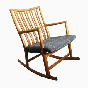 where to buy a rocking chair hanging garden chairs rattan by hans j wegner at pamono vintage oak ml 33 for mikael laursen