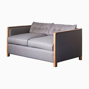 art sofa namestaj fuschia leather deco sofas online shop at pamono style bacco two seater in natural walnut linen with gunmetal studs