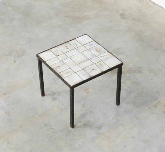ceramic tiled side table 1950s