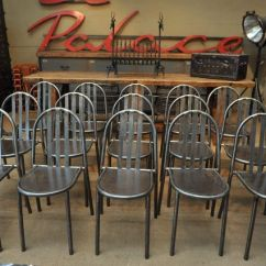 Industrial Metal Chairs Mac Sports Folding Chair By Robert Mallet Stevens 1950s For Sale At Pamono