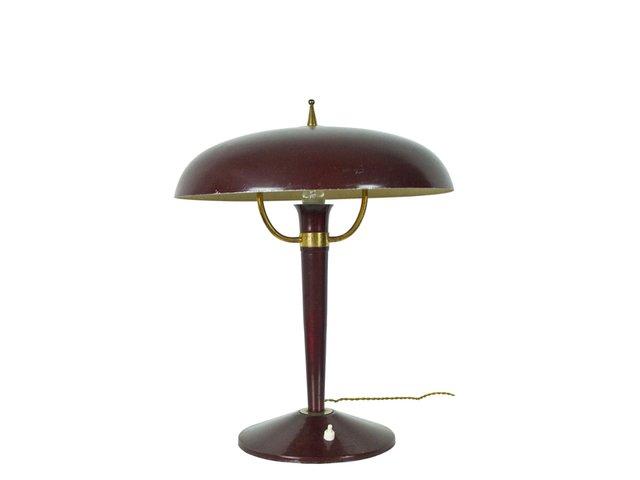 lampe de bureau vintage en fonte italie 1950s