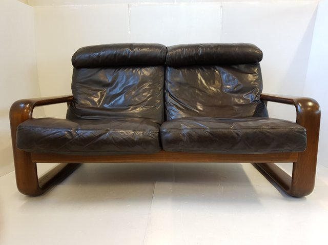 hombre leather sofa by