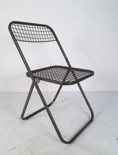 ikea folding chair scheffler home covers metal chairs by niels gammelgaard for 1970s set of 6 sale at pamono