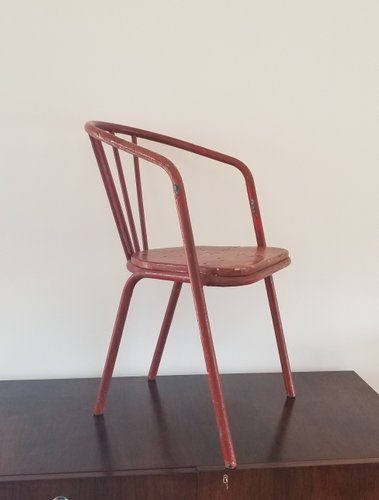 Painted Steel  Wood Chair by Robert Mallet Stevens 1930s