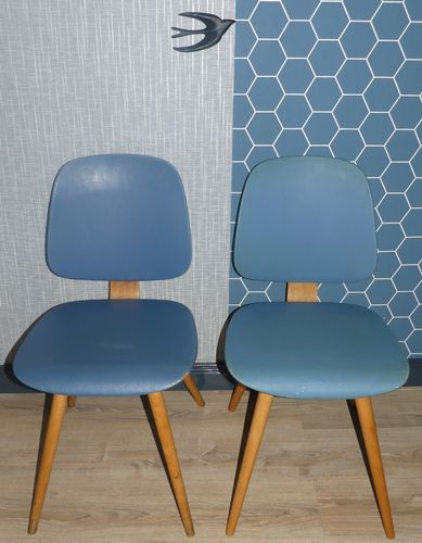 blue kitchen chairs track lighting in model 58 light from thonet 1950s set of 2 for sale at pamono