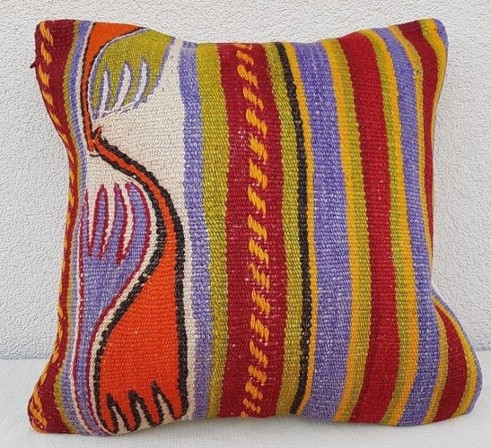 aztec print kilim tapestry pillow cover