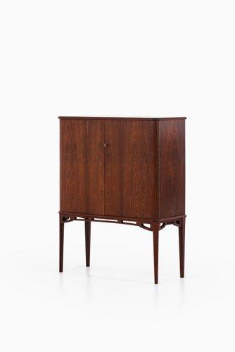 meuble scandinave en laiton et palissandre 1940s