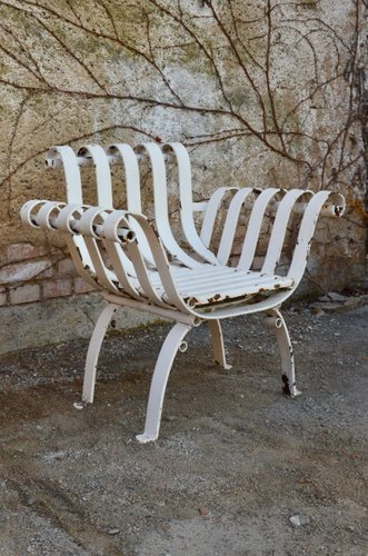 antique wrought iron garden chairs set of 2
