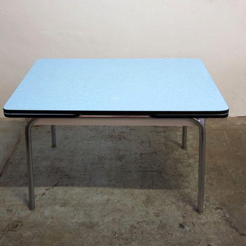 Table De Salle Manger Bleu Ciel Rallonge En Vente Sur