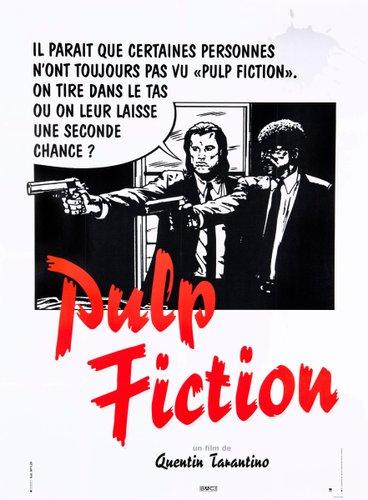 pulp fiction poster by bernard bittler 1994