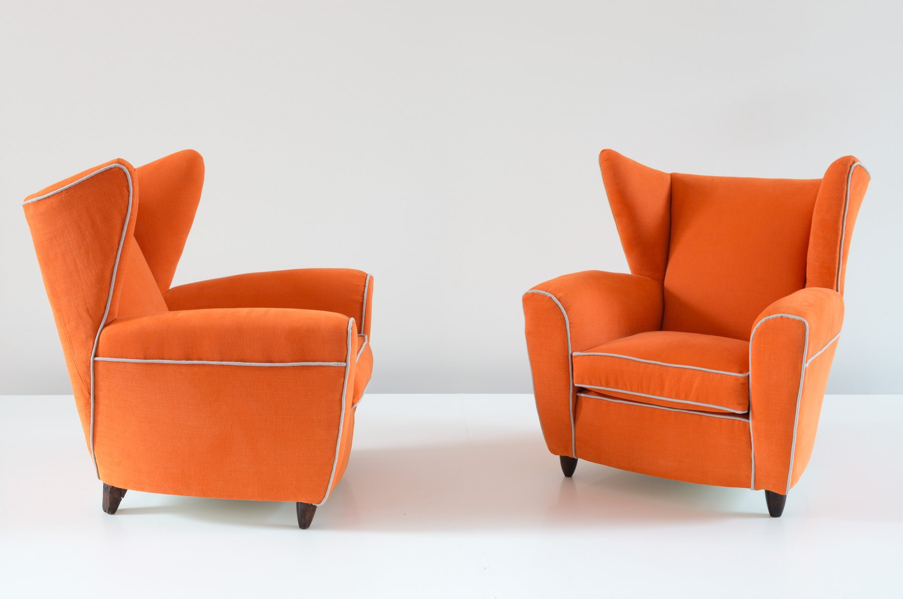 leather wingback chairs south africa bedroom chair diy orange armchairs by melchiorre bega set of 2 for