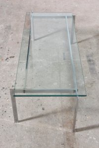 Danish Glass Coffee Table, 1968 for sale at Pamono
