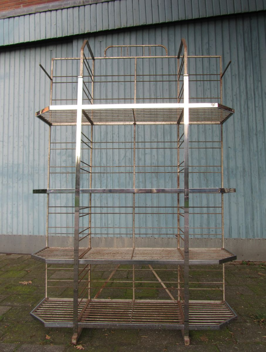 Vintage French Industrial Bakery Shelf