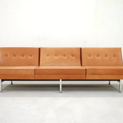 Algarve Leather Sofa And Loveseat Set Easy Stretch Covers Uk Cognac Modular By George Nelson For