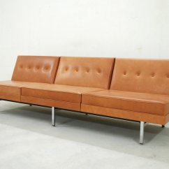 Herman Miller Modular Sofa American Home Furniture Sofas Cognac Leather Set By George Nelson For