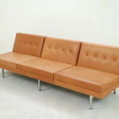 Herman Miller Modular Sofa Living Room Ideas L Shape Cognac Leather Set By George Nelson For