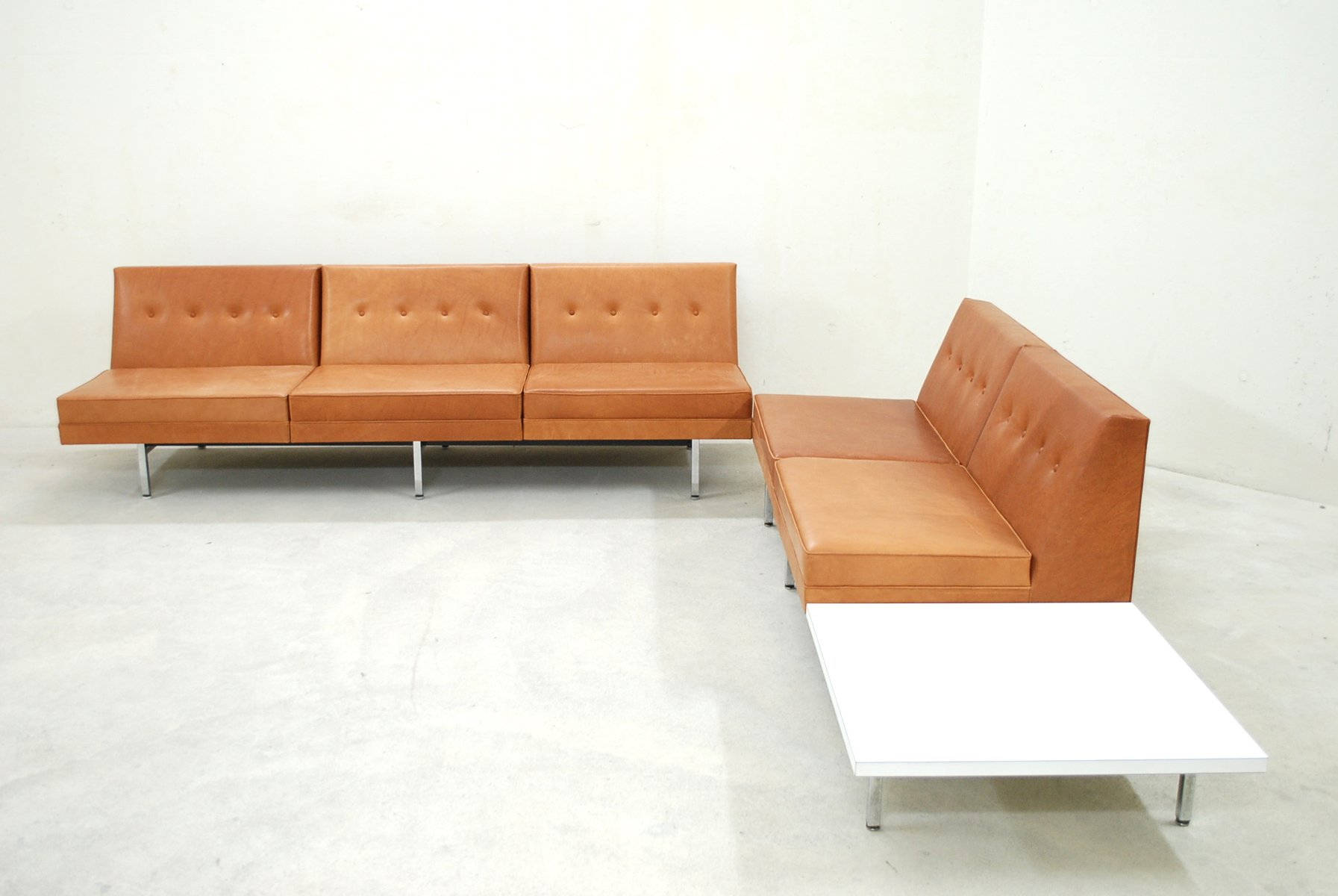 herman miller modular sofa deep leather sofas uk cognac set by george nelson for