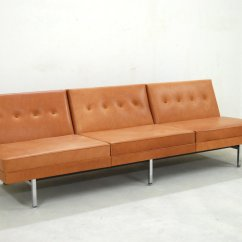Herman Miller Modular Sofa Indian Set Pictures Cognac Leather By George Nelson For