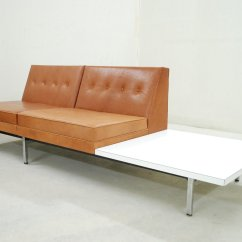 Herman Miller Modular Sofa Office Corner Sofas Uk Cognac Leather Set By George Nelson For