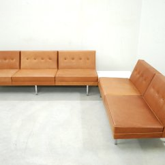 Herman Miller Modular Sofa Fairmont Furniture Sofas Cognac Leather Set By George Nelson For