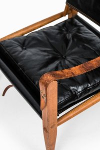 Black Leather Safari Chairs by Kaare Klint for Rud ...