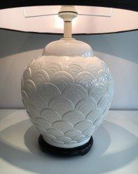 White Ceramic Lamp, 1970s for sale at Pamono