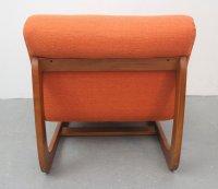 Vintage German Orange Lounge Chair for sale at Pamono