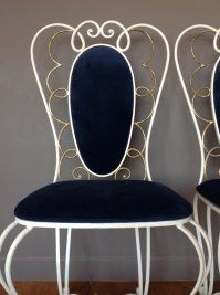 Vintage Wrought Iron Chair, 1950s, Set of 2 for sale at Pamono