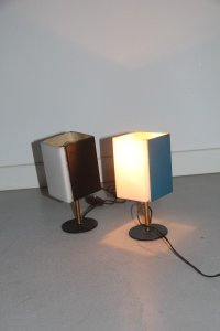 Mid-Century Italian Colored Table Lamps, 1950s, Set of 2 ...