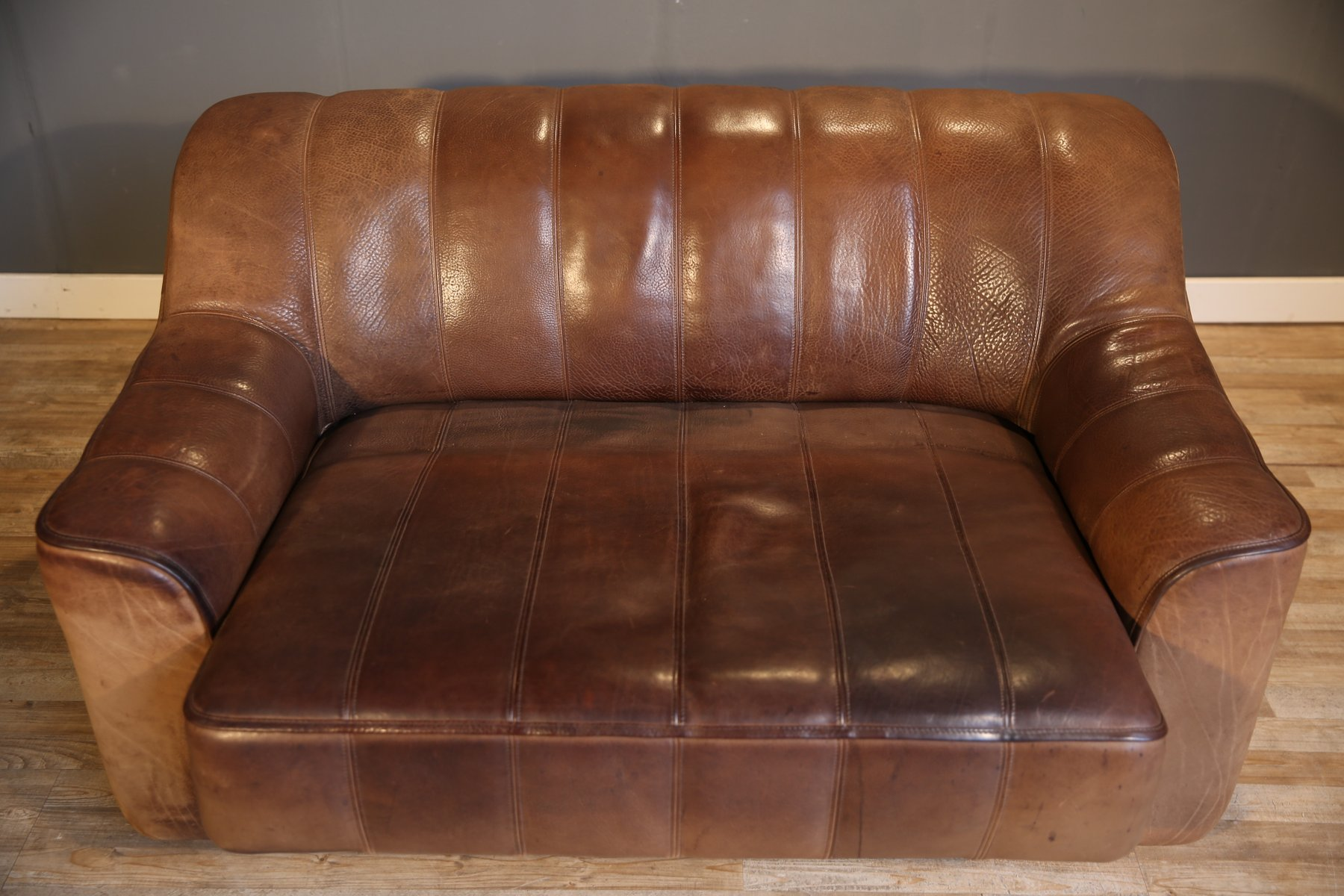 flexsteel leather sofa color repair bed that converts to bunk beds ds 44 double seat from de sede 1970s for