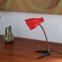 Red Vintage Desk Lamp for sale at Pamono