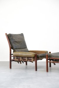 Mid-Century Lounge Chair & Ottoman from Arne Norell for ...