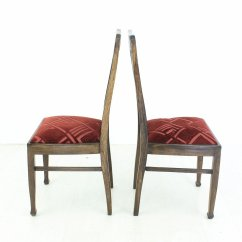 Vintage Oak Dining Chairs Chair Rental Kansas City 1920s Set Of 2 For Sale At Pamono