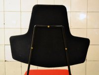 Italian Black & Red Dining Chairs, Set of 4 for sale at Pamono