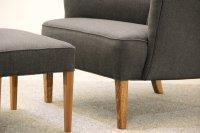 Vintage Danish Easy Chair & Ottoman for sale at Pamono