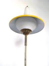 Metal, Brass, and Marble Telescopic Floor Lamp, 1950s for ...