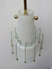 Italian Glass Pendant Light, 1950s for sale at Pamono