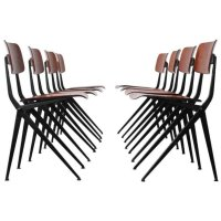 Mid-Century Industrial Compass Leg Dining Chair from Marko ...