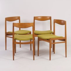 Green Dining Chairs Uk Wobble Chair Canada Danish 1960s Set Of 4 For Sale At Pamono