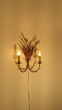 Vintage Brass Italian Wall Light, 1950s for sale at Pamono